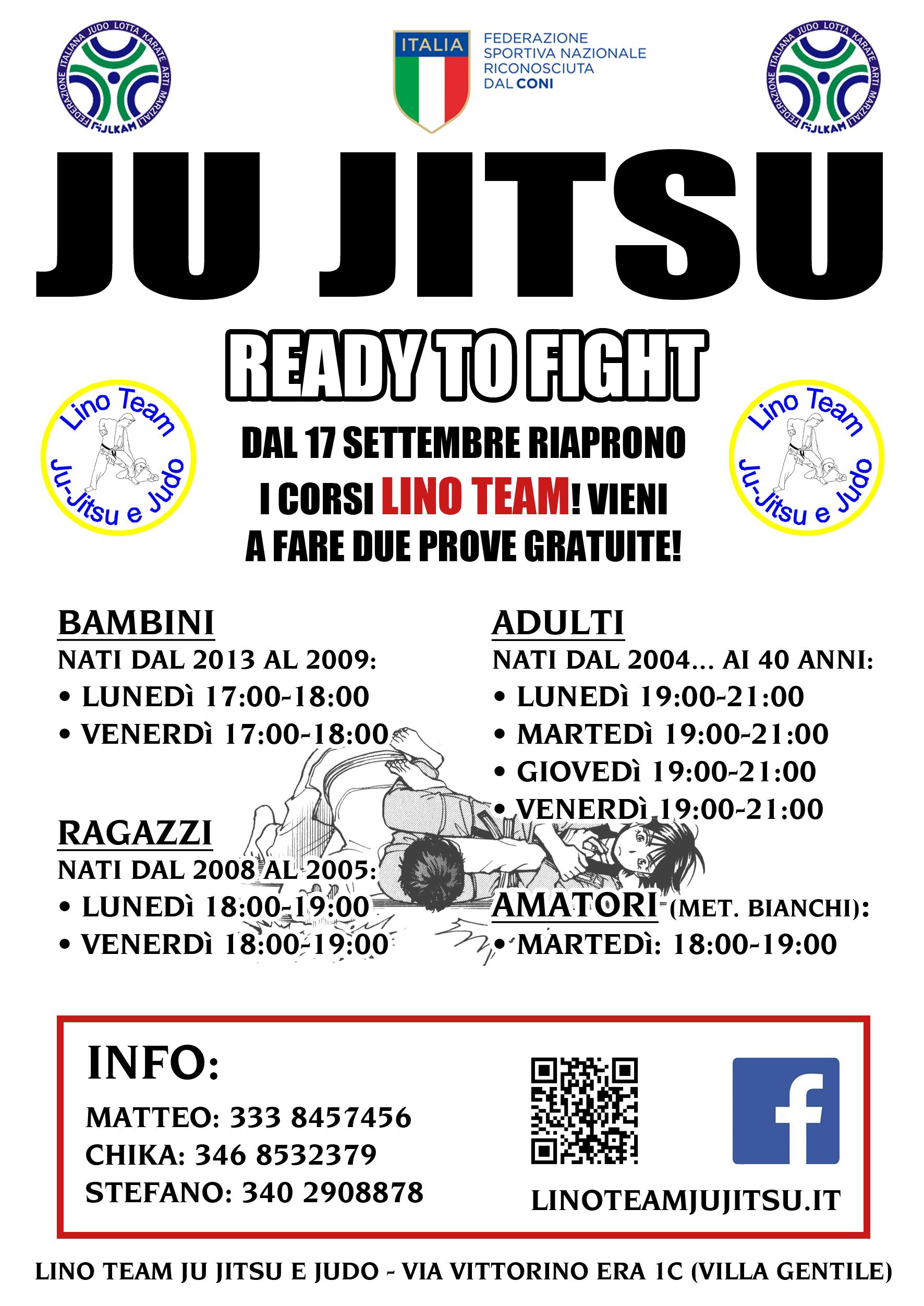 Volantino Lino Team Ju Jitsu Judo BJJ Brazilian Brasilian Jiu Jitsu Liguria Corsi Nuovi Corsi Arti Marziali Martial Arts Genova 2018